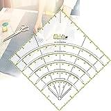 Regla de Acrilico,Multifuncional Regla de Costura de Acrílico Regla de Acolchado Regla de Patchwork Regla de Corte de Patchwork Quilting Ruler Transparente con Líneas de Doble Color para Costura