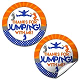 Jump Zone Trampoline Park Birthday Party Sticker Labels, 40 2' Party...