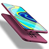 X-level Coque Xiaomi Redmi Note 9S, Coque Xiaomi Redmi Note 9 Pro, Housse en Souple Silicone TPU Ultra Mince et Anti-Rayures de Protection Etui pour Redmi Note 9S/ Note 9 Pro Case Cover - Vin Rouge