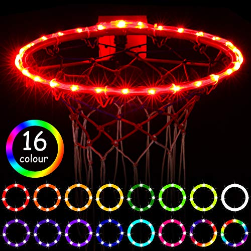 LED Basketball Hoop Lights, Remote Control Basketball Rim LED Light