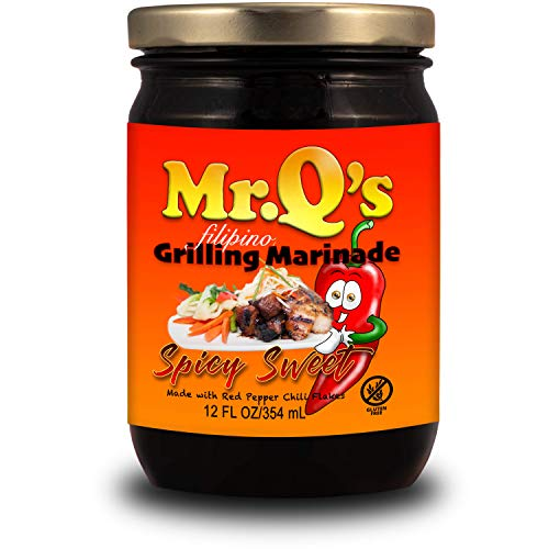 Mr. Q's Filipino All Purpose Cooking and Grilling Marinade Spicy Sweet Barbecue 12oz