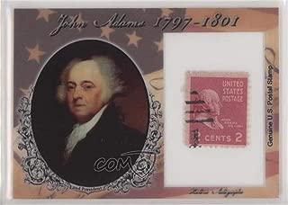 John Adams #25/90 (Trading Card) 2018 Historic Autographs POTUS - Stamps #ST-JA