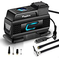 Moyidea Tire Inflator Portable Air Compressor with Emergency LED Flashlight