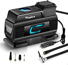 Moyidea Portable Air Compressor for Car Tires, 12V DC Tire Inflator Pump, 150 PSI with Emergency LED Flashlight for Car, Motorcycles, Bicycles,Inflatables