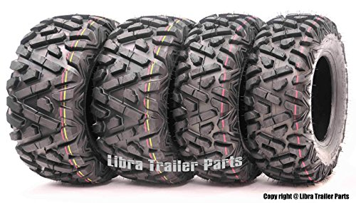 Set of 4 WANDA ATV/UTV Tires 24x8-12 Front & 24x10-11 Rear Solid Deep Tread …
