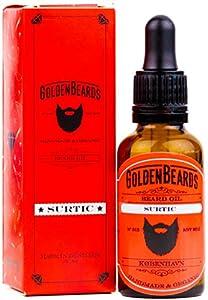 Aceite Orgánico para Barba - SURTIC - 30ml Golden Beards 100% Orgánico | El mejor Aceite de Jojoba y Argan para tu barba. - El mejor producto para una barba en crecimiento -