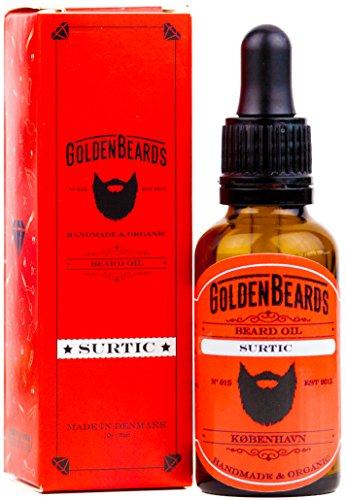 Huile de Barbe Bio - SURTIC - 30ml * Barbes d'or * | 100% bio | Huile de jojoba et d'argan naturel * Barbes d'or * | Huile de jojoba et d'argan et d'abricot, hydratez votre barbe et votre peau.