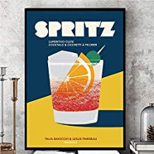 Akiratony Aperol Spritz Vintages Poster Wall Art Home Decor Gifts for Lovers Painting