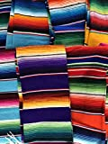 Small Authentic Mexican Blankets Colorful Serape Blanket Random Color Shipped