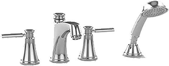 Toto TB211S#CP Keane Four-Hole Roman Bathtub Faucet Trim with Handshower Polished Chrome
