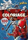 Disney Marvel Spider-Man – Coloriage avec plus de 100 stickers – Livre de coloriage avec stickers – Dès 4 ans