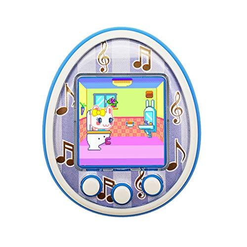 Veyikdg - videogioco, tema animali domestici, portatile, elettronico, Tamagotchi, giocattolo educativo per bambini e bambine, con LED lampeggiante, blu