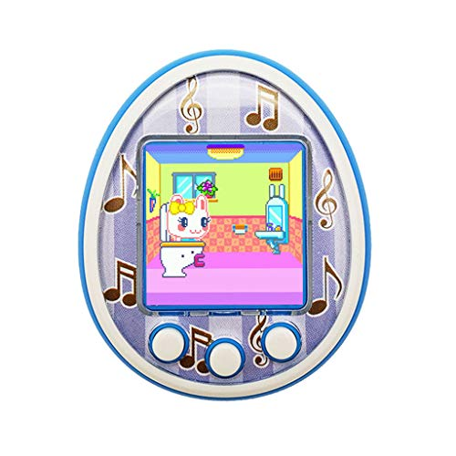 Virtual Pet Toy, veyikdg Electronic Handheld Pet Toy Child Tamagotchi Electronic Virtual Kids Educational Toy Slot Machine with LED Blhing for Kids Christmas Birthday for Boys and Girls Gift (Blue)
