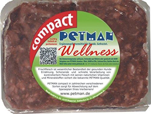 petman compact Wellness, 12 x 500g-Beutel, Tiefkühlfutter, gesunde, natürliche Ernährung für Hunde, Hundefutter, Barf, B.A.R.F.
