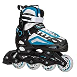 5th Element G2-100 Adjustable Girls Recreational Inline Skates - 12-1/White-Blue