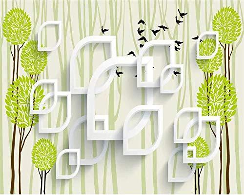 Benutzerdefinierte Foto Wallpaper Wandbilder Rose Stereo Bäume Wohnzimmer Schlafzimmer Restaurant Tv Hintergrund Tapete 3D Papel De Parede-200 * 140Cm