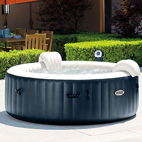 INTEX PureSpa Bulles & LED bleu navy 4 places 196x71cm