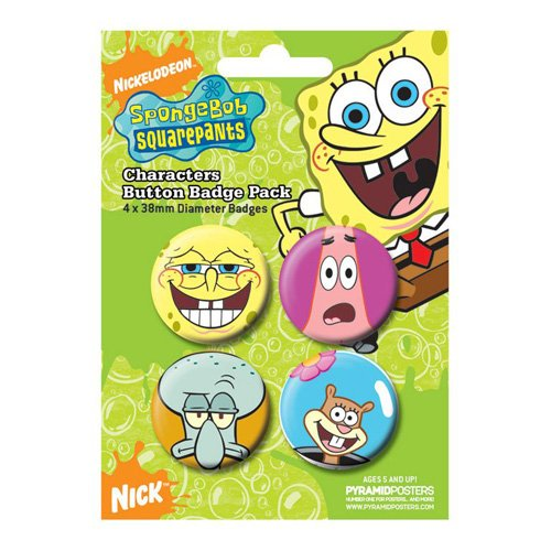 Bob Esponja Chapas Pin Set (Pack de 4 Pins) Characters Pyramid International