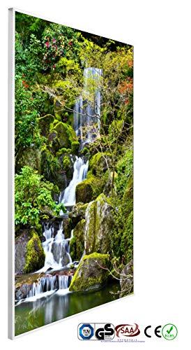 INFRAROT-HEIZUNG 600W-WATERFALL-(1037)-60x100 cm-Bild-Heizung Heiz-Panel Elektro-Heizung Heiz-Körper Heiz-Strahler Heiz-Platte Strahlungs-heizung Flach-Zertifiziert TÜV GS CE ROHS SAA-Garantie 5 Jahre