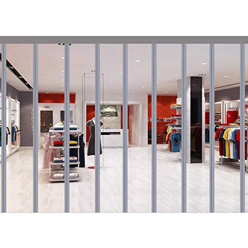 MAHFEI Cortina de Puerta con Aislamiento térmico, Mosquitera Magnética para Puertas Paneles de Puerta de PVC Transparente Fácil de Instalar Cierre automático para centros comerciales