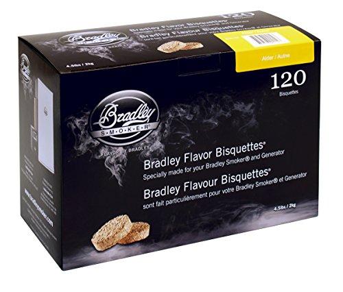 Bradley Smoker BTAL120 Erle Bisquetten 120 Pack