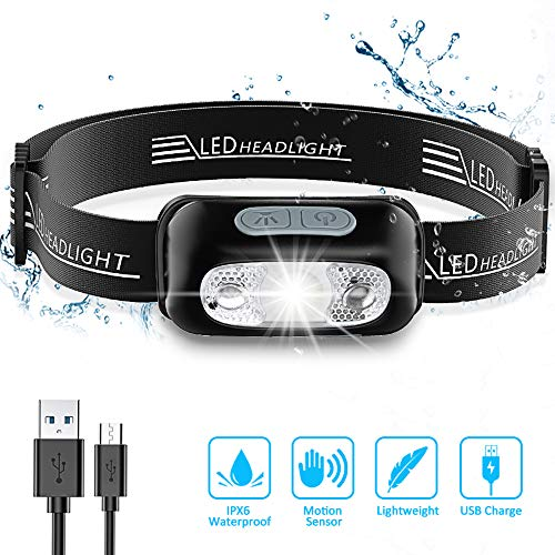 JaxTec LED Head Torch 8000 Lumens Zooomable Headlamp with 3 Light Modes Super