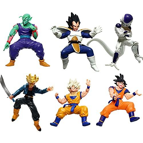 Dragon Ball Cake Topper, FNDE Dragon Ball Mini Figurine,Dragon Ball Figure 6Pcs Cake Toppers per Bambini Doccia di Compleanno Decorazioni