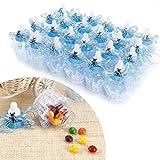 SurePromise One Stop Solution for Sourcing 24er Blau Bär Organza Milchflasche Babyflasche Baby Taufe Geburt Babyshower Party Tischdeko Gastgeschenke