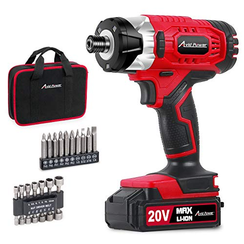Impact Driver Kit, 1590 in-lbs 20V MAX Cordless 1/4'...