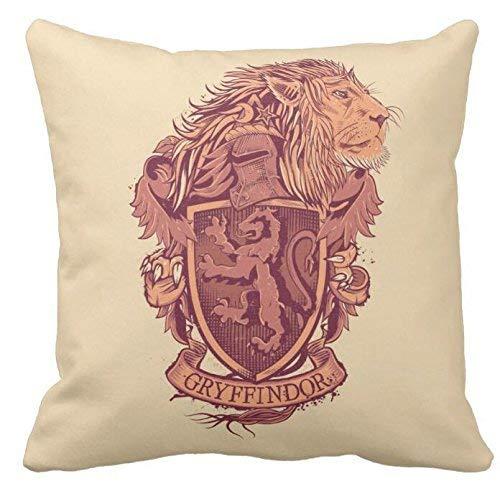 N\A Harry Potter | Gryffindor Lion Crest Throw Pillowcase Sofá y Funda de Almohada para automóvil