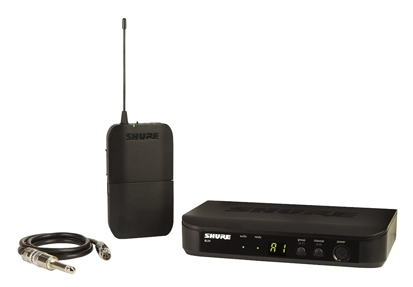 Shure BLX14 Bodypack Wireless System with WA302 Instrument Cable, H10