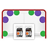 Top Shelf Targets All-Star Bundle Magnetic Shooting Targets (4X Purple 8-inch and 4X Green 6-inch and 8X Target Tethers) for Hockey and Lacrosse Excellent Practice Tool & Training Equipment