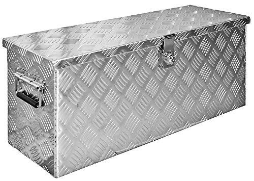 Truckbox Box Werkzeugkiste Anhängerbox Deichselbox 15 Größen Alumium Trucky, Modell:D055 (76 x 26 x 35 cm)