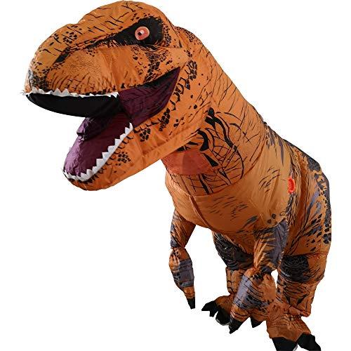 A Costume gonfiabile da dinosauro T-Rex, per feste o cosplay Costume Dinosauro Gonfiabile Costume Costumi di Halloween per Adulti Festa Costumi Alto 220cm/7.2ft …