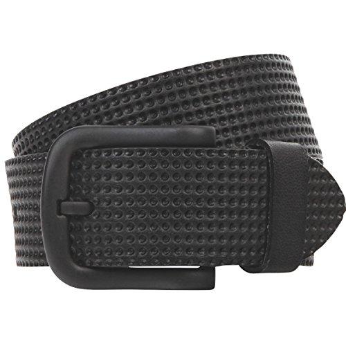 Lindenmann Mens leather belt/Mens belt, full grain leather belt with embossing, black, Größe/Size:100, Farbe/Color:noir