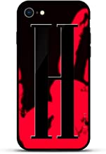 Luxendary Stylish, Fun, Creative, Design Oriented Cell Phone Case for iPhone 8/7 - Bold Initial H (Style #3) - Magma (Color Shifter)