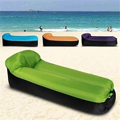 LWQ Kompakte Größe Outdoor-Camping-Reise Im Freien Aufblasbaren Hocker Sofa, Tragbare Reise Pouf Stuhl Mit Kissen