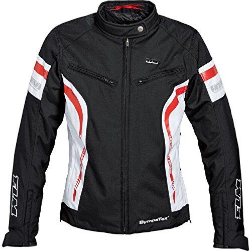 FLM Motorradjacke mit Protektoren Motorrad Jacke Sports Damen Textil Jacke 2.1 schwarz/weiß S, Sportler, Ganzjährig