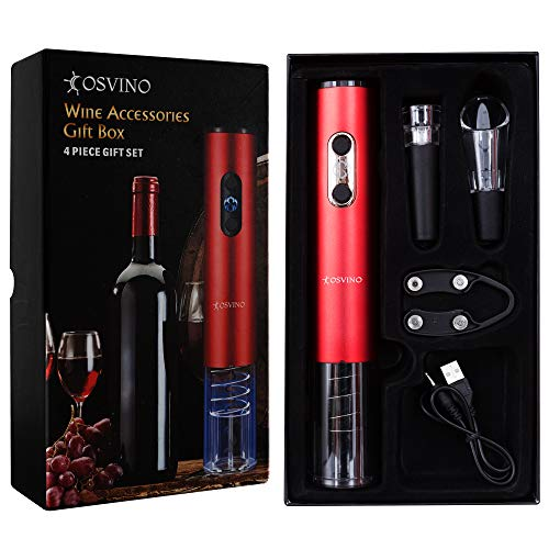Cosvino Automatic Wine Bottle Opener, Wine Accessories Set, Corkscrew Opener, Electric Opener, Ergonomic Design, Rechargeable Bottle Opener, Perfect Gift for Wine Lovers