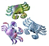Curious Minds Busy Bags Set of 3 - Crab Sand Filled Animal Toy - Heavy Weighted Sandbag Animal Plush Bean Bag Toss - Shimmering Glitter