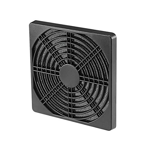sourcing map 2 Piezas A Prueba de Polvo Filtro De Polvo Protector Rejilla Funda para 120mm PC Ventilador para Caja Negro 120mm Fan Filter