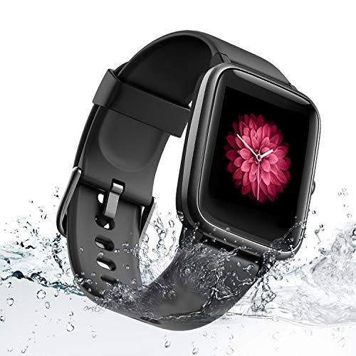 TZL Montre Connectée Femmes Hommes Smartwatch avec Fréquence Cardiaque et Moniteur de Sommeil, 9 Modes Sportifs Bracelet Podomètre Étanche Montre Activité pour Android iOS