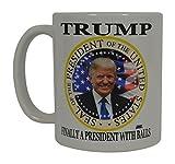 Donald Trump Coffee Mug Finally A President With Balls Funny Novelty Cup Gift Idea MAGA