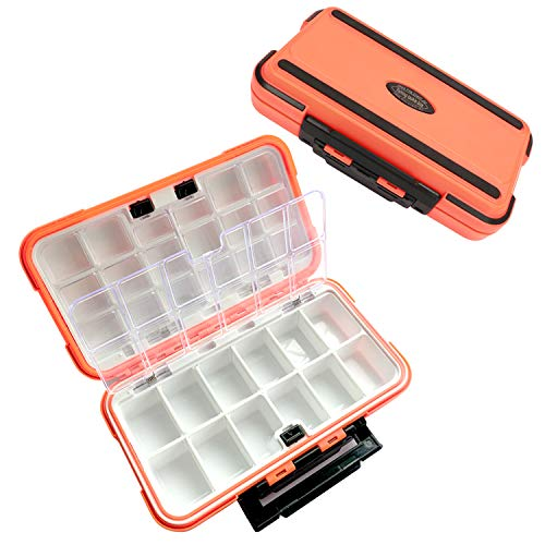 Fishing Tackle Box Waterproof Portable Tackle Box Organizer With Storing Tackle Set Plastic Storage, Floating Storage Box, Fishing Lure Boxes Bait Storage Case Containers For Trout, Jewelry, Bead