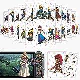 Casinteres 24 tarjetas NFC para The Legend of Zelda Breath of The Wild para Switch/Switch Lite/Wii U (tamaño estándar)