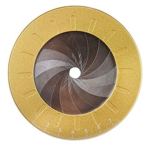 EFINNY Herramienta de Dibujo Medida Ajustable Reglas de Anillo de Acero Inoxidable Regla de Anillo de Metal Herramienta geométrica para Plantilla