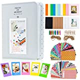 Amimy Photo Album Accessories Conjuntos para Fujifilm Instax Mini 7s 8 8+ 9 25 50s 70 90, Polaroid Snap PIC-300, HP Sprocket, Kodak Mini Película de 3 Pulgadas (64 Bolsillos, Smokey White)