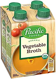 Pacific Foods Organic Vegetable Broth 8 fl oz 4 count