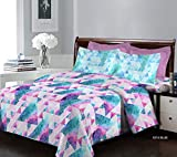 Bombay Dyeing Breeze - Cotton 120 TC - Double Bedsheet with 2 Pillow Covers - Blue