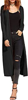 Maxi-vest voor dames - mantel/blazer - boyfriend-stijl/lang model/soepel vallende stof -met kraag/lange mouwen